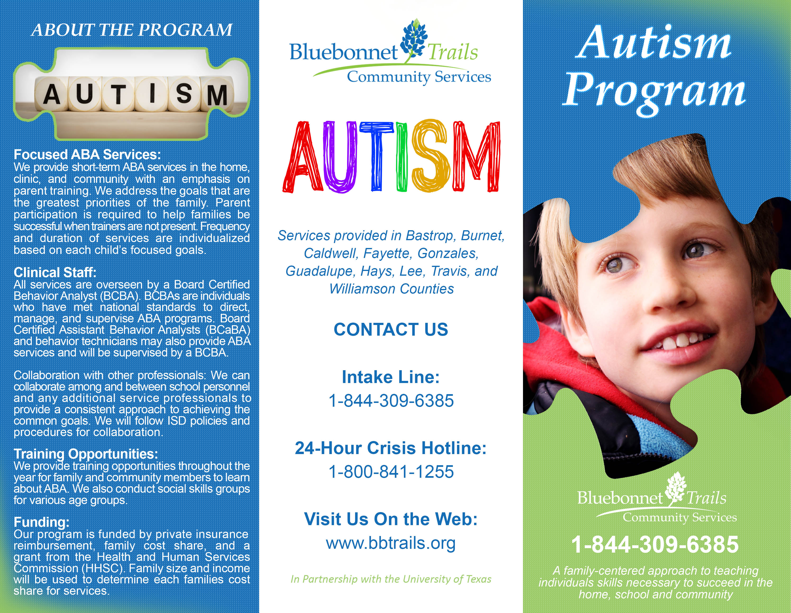 Autism Services Bluebonnet Trails Community Services