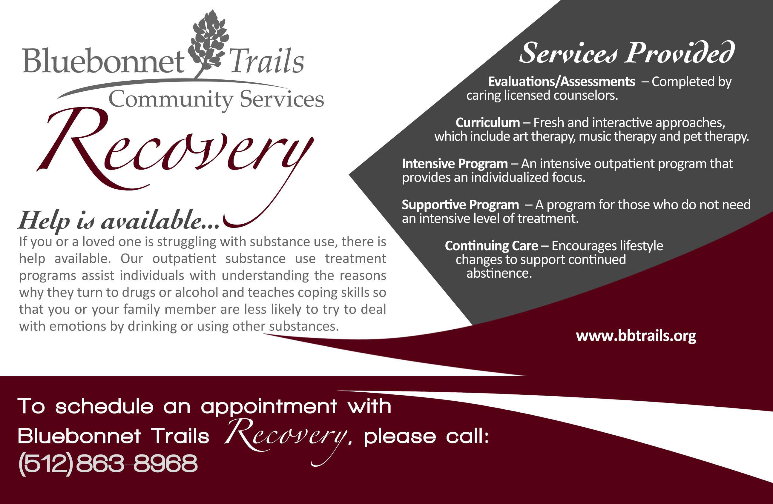 Substance Use Services | Bluebonnet Trails Community Services