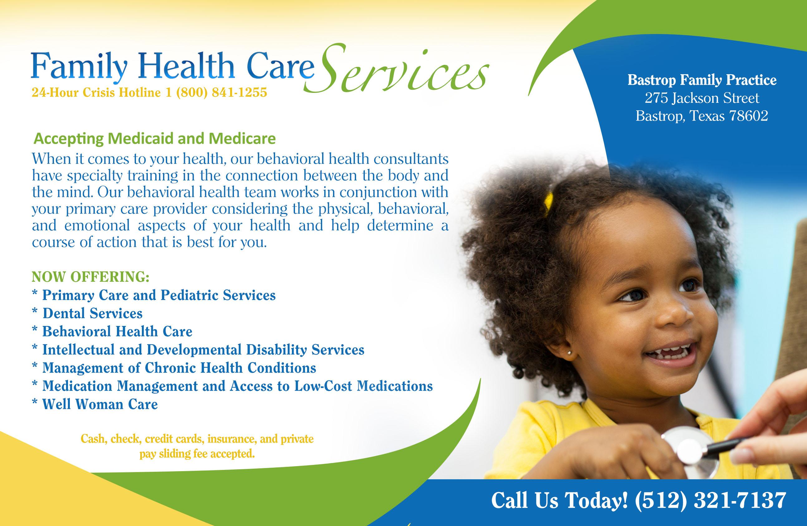 Family Health Care Bluebonnet Trails Community Services